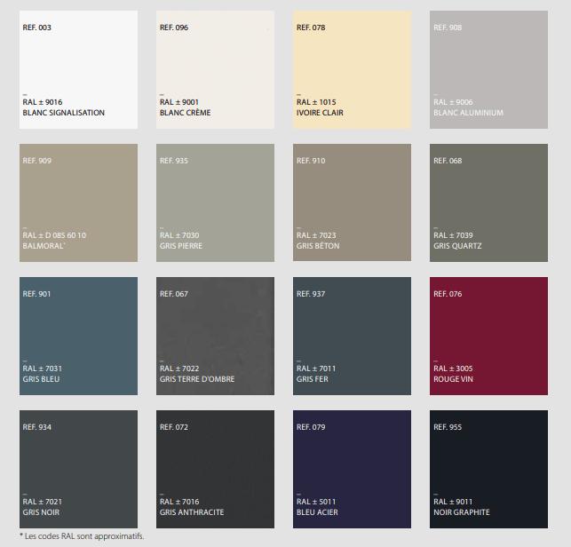 Collection couleur de Deceuninck
