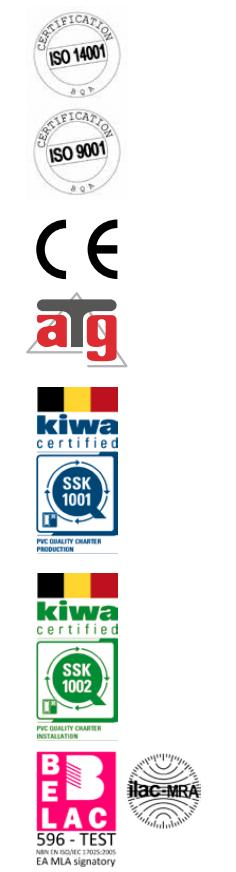 Kwaliteit labels Deceuninck