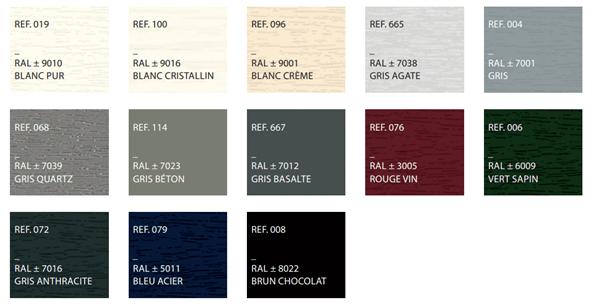 Teintes bois colorées